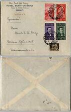 REGNO-Uomini Illustri(427/28-430/31)+Imperiale-Busta Salerno->Berlino 1.11.1937