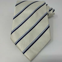New Donald J Trump Signature Collection Silk Blue White Striped Neck Tie Necktie
