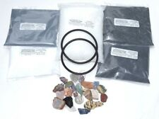 Rock Tumbling Kit For 15 lb Tumblers With Madagascar Stones, Pellets And 2 Belts