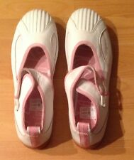BNWT White with Pink UK5 EU38 US7 FCUK Mary Jane Sneakers Pumps Trainers Flats