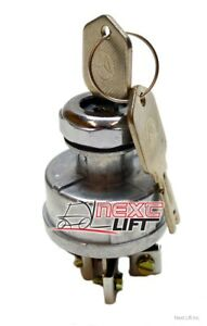 NEW UNIVERSAL IGNITION SWITCH CLARK HYSTER YALE CROWN DAEWOO KEY FORKLIFT CAT