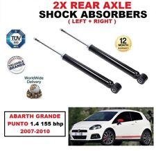 ARRIÈRE GAUCHE + DROIT Amortisseurs Kit pour Abarth Grande Punto 1.4 155 BHP
