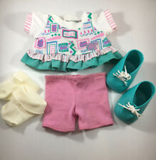 Cabbage Patch Kids Clothes Vintage Doll Outfit Play pink play clothes teal shoes
