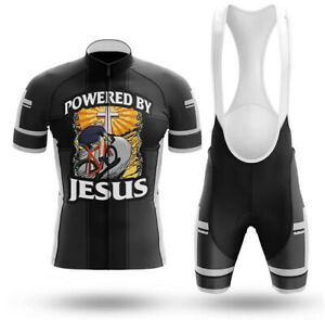 Powered By Jesus - Men's Novelty Cycling Kits