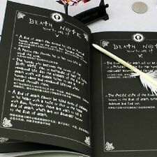2pcs Notebook & Feather Pen Writing Journal Anime Halloween Cosplay Death Note