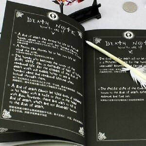 Japanese Anime Notebook + Feather Pen Writing Journal Death Note Costume Cosplay
