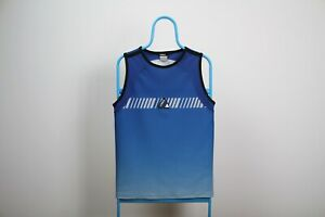 Vintage Nike Air Max Size S Small Blue Vest Sleeveless Top Crew Neck