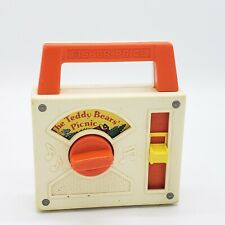 Vintage Fisher Price Wind Up Toy Radio Music Box 1979 Teddy Bears Picnic Works