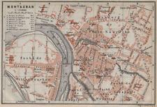 Montauban antique ville city plan de la ville. tarn-et-garonne carte 1914 carte