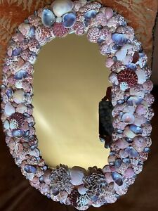 Beautiful Handcrafted SEA SHELL Mirror 17 3/4 x 13 1/2