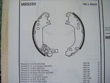 Renault Express/Extra 1.0/1.1/1.4/1.6d/1.9d rear brake shoes (mbs550) (85 - 99)