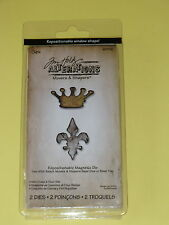 Sizzix  Tim Holtz  Alterations - Movers and Shapers Die - Mini Crown & Fleur Set