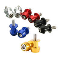 2Pcs M6 X1.5 Motorcycle Cnc Swing Arm Sliders Spools Stand Screw For Yamaha H1C9