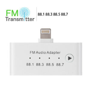 P94C 3in1 FM Transmitter Light Ning to 3.5mm AUX Jack 8pin Jack iPhone iPad