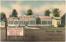 Towncraft Clothes Store in Natick MA Advertising Postcard