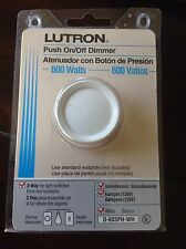 One Lutron Rotary Push On/Off 3-Way Dimmer Switch #D-603PH-WH 2G