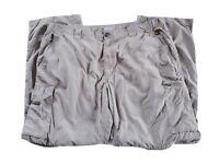 Columbia Omni-Shade Men's Khaki Convertible  Pants/Shorts 40 x 30