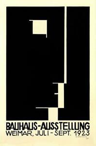 Bauhaus Ausstellung 1923 Weimer Exhibition Logo Poster Lithograph Herbert Bayer