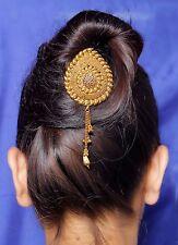 HP-10 Indian Ethnic Bollywood Fashion Gold Tone Polki Jooda Hair Pin Jewelry