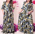Vestito Donna Fantasia Floreale Taglie Grandi Woman Oversize Dress OS120013