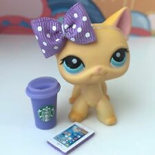 Littlest Pet Shop LPS 3 PC Accessory Lot Bow Phone Starbucks CAT NOT INCLUDED ❤