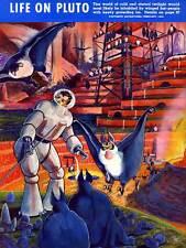 Portada de la revista Vida Vintage Plutón Aliens Sci Fi aventuras 1940 cartel CC3314