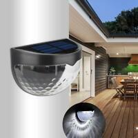 6 LED Solar Powered Gutter Fence Lights Outdoor Garden Waterproof Wall Lamp