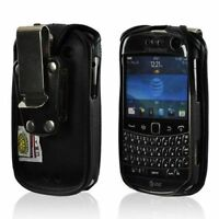 Turtleback Blackberry Bold 9900 Leather Fitted Phone Case with Metal Belt Clip