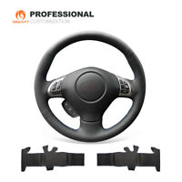 Black Leather Steering Wheel Cover for Subaru Forester Impreza WRX Legacy Exiga