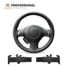 Black Leather Steering Wheel Cover for Subaru Forester Impreza WRX Legacy Exiga