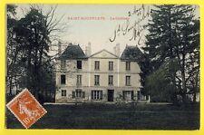 cpa de 1911 SAINT SOUPPLETS (Seine et Marne) CHÂTEAU de MAULNY Caroly Mairie