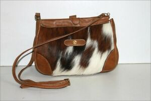 Small Messenger Bag Leather And Fur Pony Shoulder Strap Fine Very Good Condition