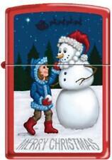 Zippo 233 merry xmas snowman Lighter RARE & DISCONTINUED