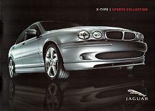Jaguar X Type Sports Collection Bodystyling Kit 2005-06 UK Market Sales Brochure