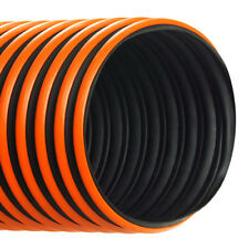5-1/2''ID RFH HOSE/DUCTING BLACK THERMOPLASTIC RUBBER WITH WEATHER STRIP, 25 FT
