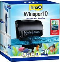 Tetra Whisper IQ Power Filter 20 Gallons 130 GPH,With Stay Clean Technology