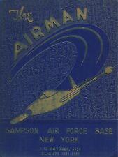 ☆* VINTAGE SAMPSON AIR FORCE BASE NEW YORK YEAR BOOK LOG 1954 - THE AIRMAN *☆