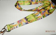 MOBILE PHONE/IDENTITY CARD LANYARD NECK STRAP TINKERBELL GREEN