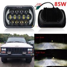"85W 7x6"" 5x7"" Square LED Hi/Lo Beam Headlight Halo DRL For Jeep Cherokee XJ YJ"