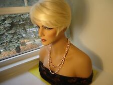 Vtg Ladies Necklace W/White, Red Color Plastic Beads From 1930's-1980's-  #282.