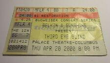 Third Eye Blind Concert Ticket Stub Columbus Ohio Palace Theater 2000