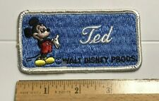 Walt Disney Productions Mickey Mouse Souvenir Name TED Embroidered Patch Badge