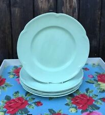 6 X Vintage Utility Johnson Brothers Greendawn Luncheon Plates 9ins (23cms)