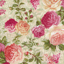 Natural Beauty Floral Ecru Paintbrush Studio 100% Cotton fabric by the yard