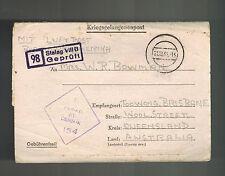 1943 Germany Stalag 8B Pow Prisoner of War Letter Cover to Australia W Bowman