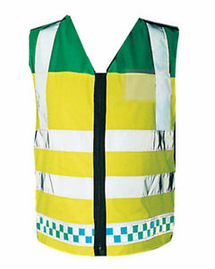 PARAMEDIC EMT Vest Hi Visibility Ambulance Reflective Emergency Waistcoat Viz