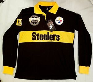 Pittsburgh Steelers 1933 3 Button Pull Over Sweater NFL Team Apparel Size L NWT
