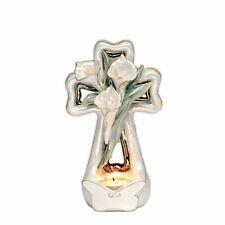 Appletree Design - Porcelain Cross Tea Light - Calla Lily