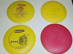 X4 DX Plastic Disc Golf Yellow/Red SET Innova Leopard/Destroyer/valkyrie/Roc LOT