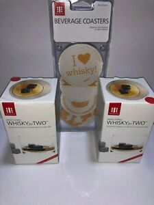 Whisky Gift Box Set 12 Reuseable Ice Cube Stones With 4 Tumbler Glasses